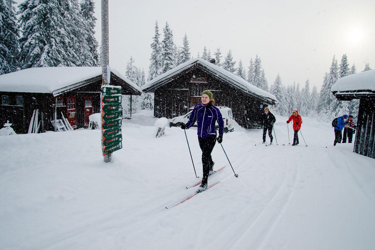 Skihytta i Søndre Land