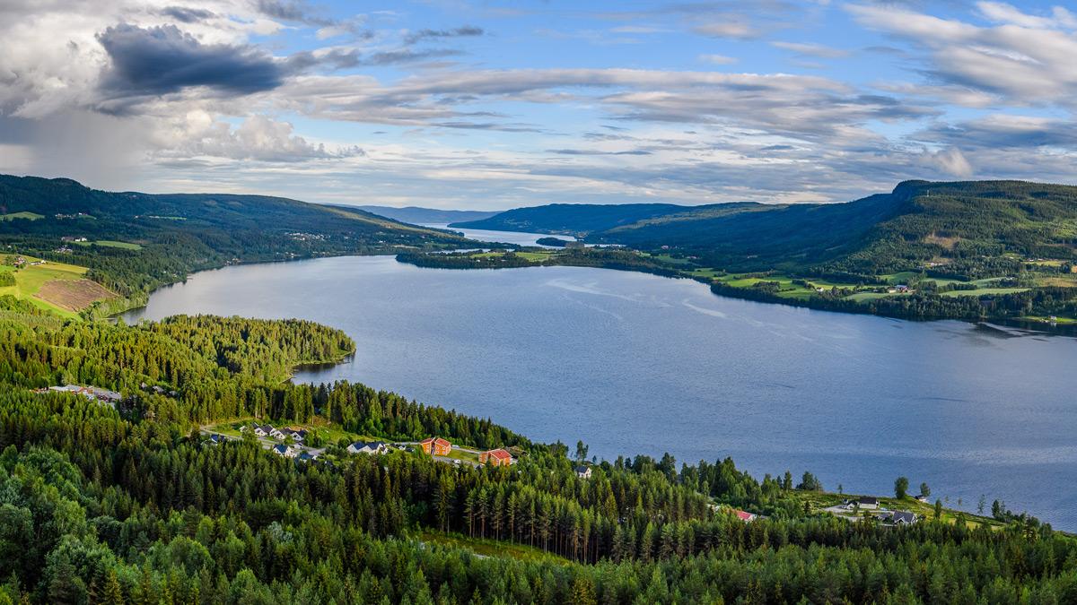 Utsikt over Odnes, Søndre Land