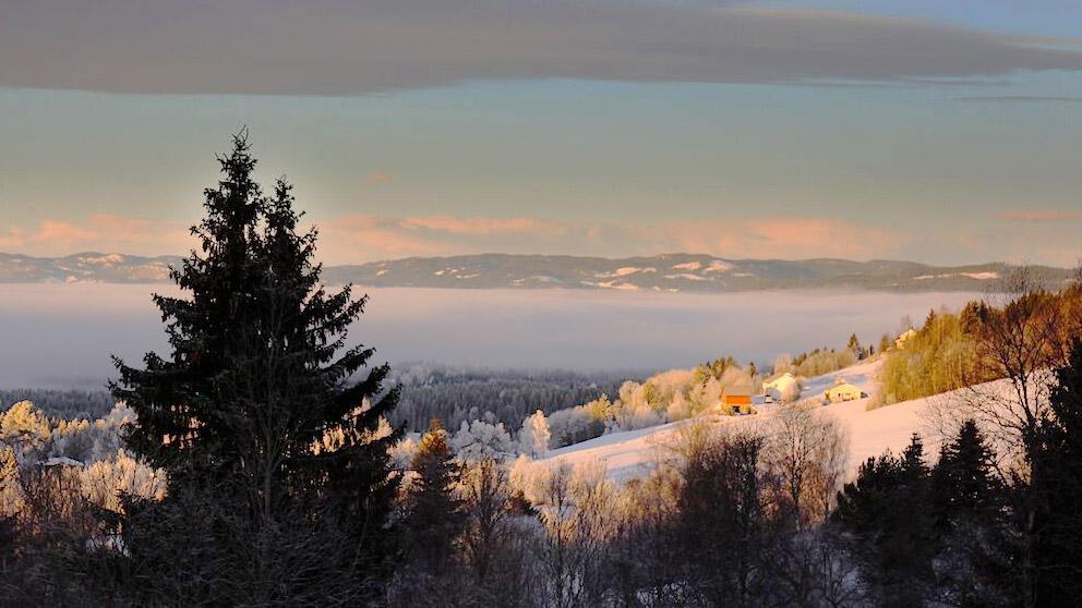Utsikt over Landåsbygda, Søndre Land
