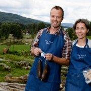 Heidi og Øivind Tandberg tilbyr kortreiste delikatesser fra gården, Søndre Land
