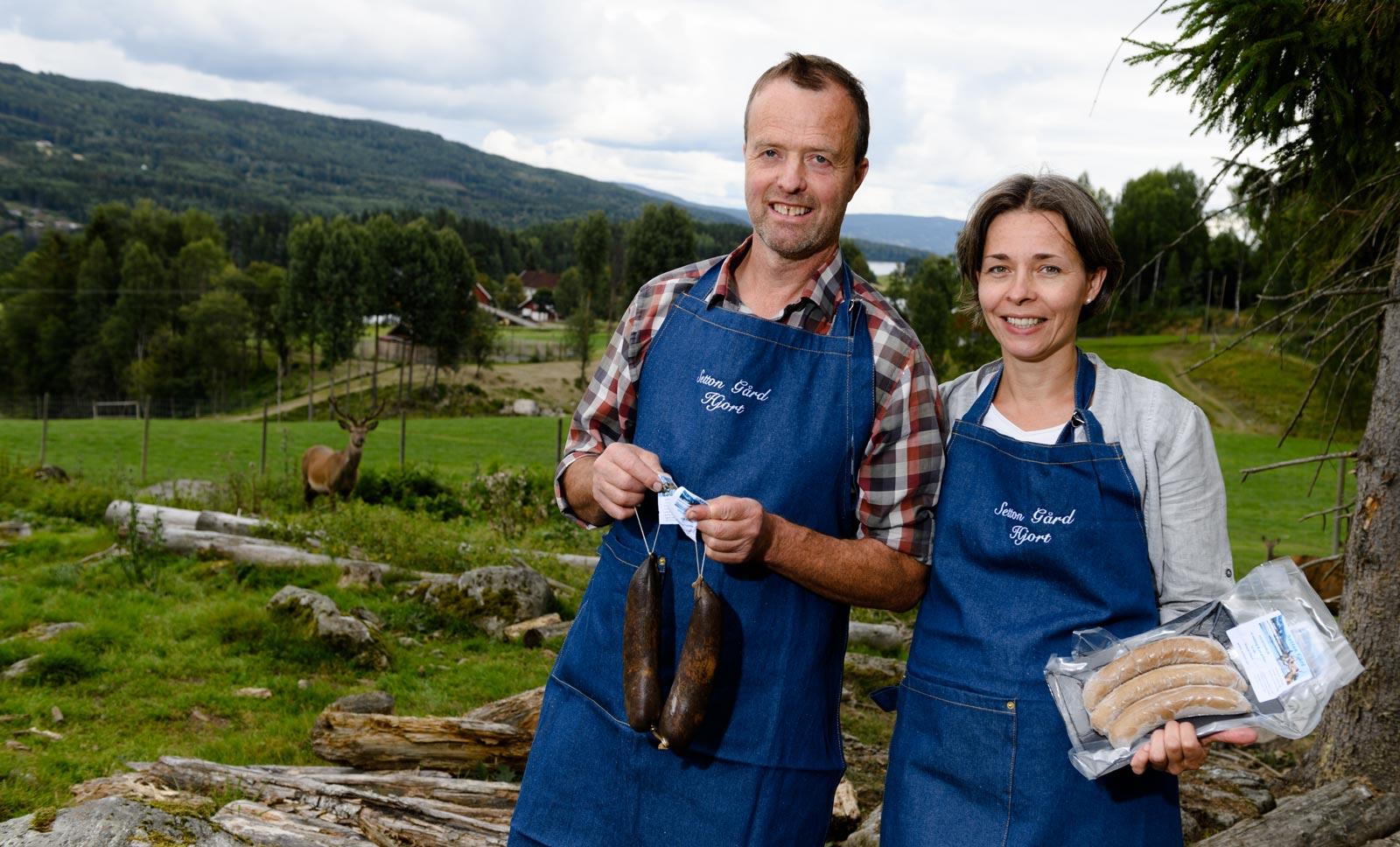 Heidi og Øivind Tandberg tilbyr kortreiste delikatesser fra gården