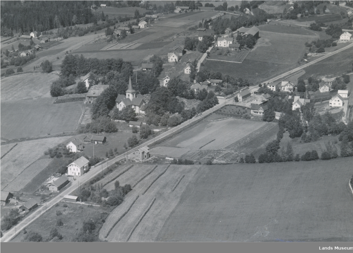 Hov sentrum anno 1950