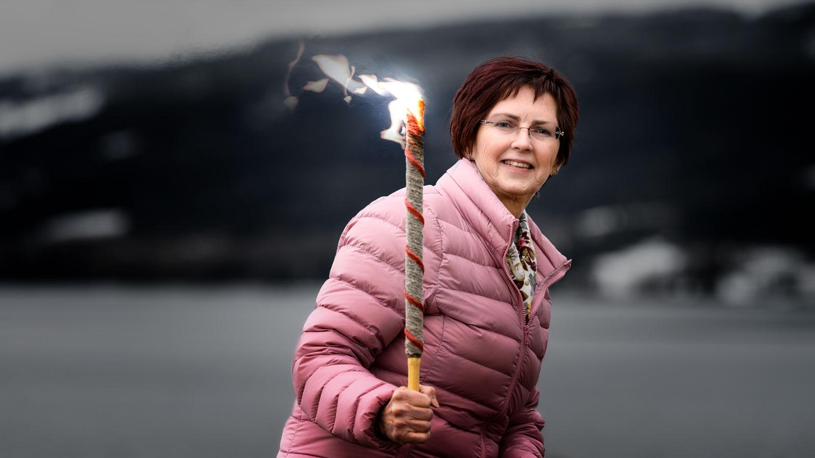 Daglig leder for Søndre Land Frivilligsentral, Marit Hultmann inviterer til Fjordlangs