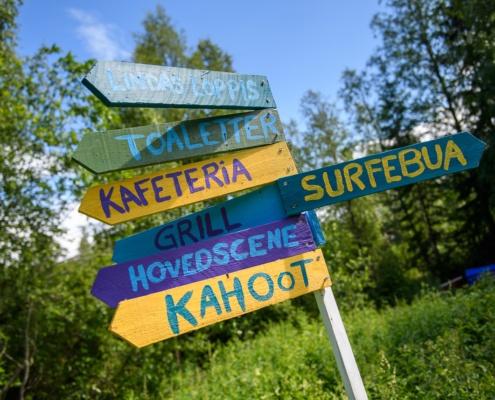 Surf-inspirert skilting på Trevatna