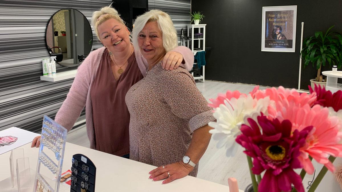 Linda Pettersen og Anita Berntsen har gjort om den tidligere butikken i Landåsbygda til salong