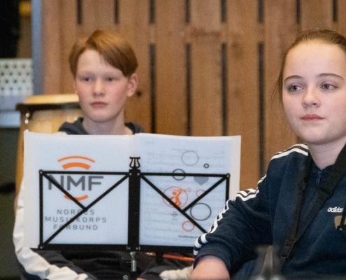 Amund Solum 14 år og Ragnhild Sagbakken 13 år