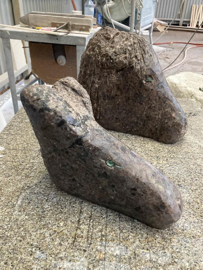 2 små skulpturer