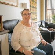 Trives: Ella Engelien har funnet seg til rette på Hovlitunet